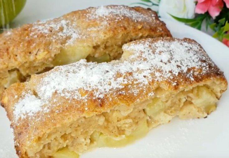 Рецепт легкого вкусного яблочного пирога без муки. Ешь хоть каждый день!