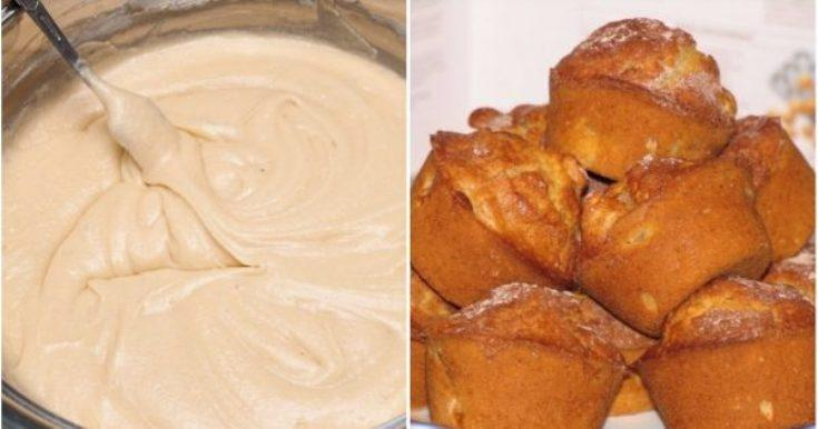 Рецепт самых нежных и воздушных кексов на сметане за 20 минут
