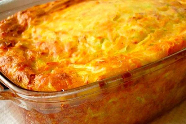 Идеальное летнее блюдо за копейки — запеканка из кабачков, сыра и зелени