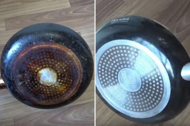 Простой способ удаления застарелого нагара со сковороды. Сияет как новая 1