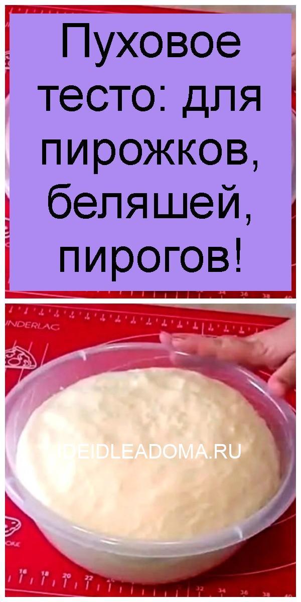 Пуховое тесто: для пирожков, беляшей, пирогов 4