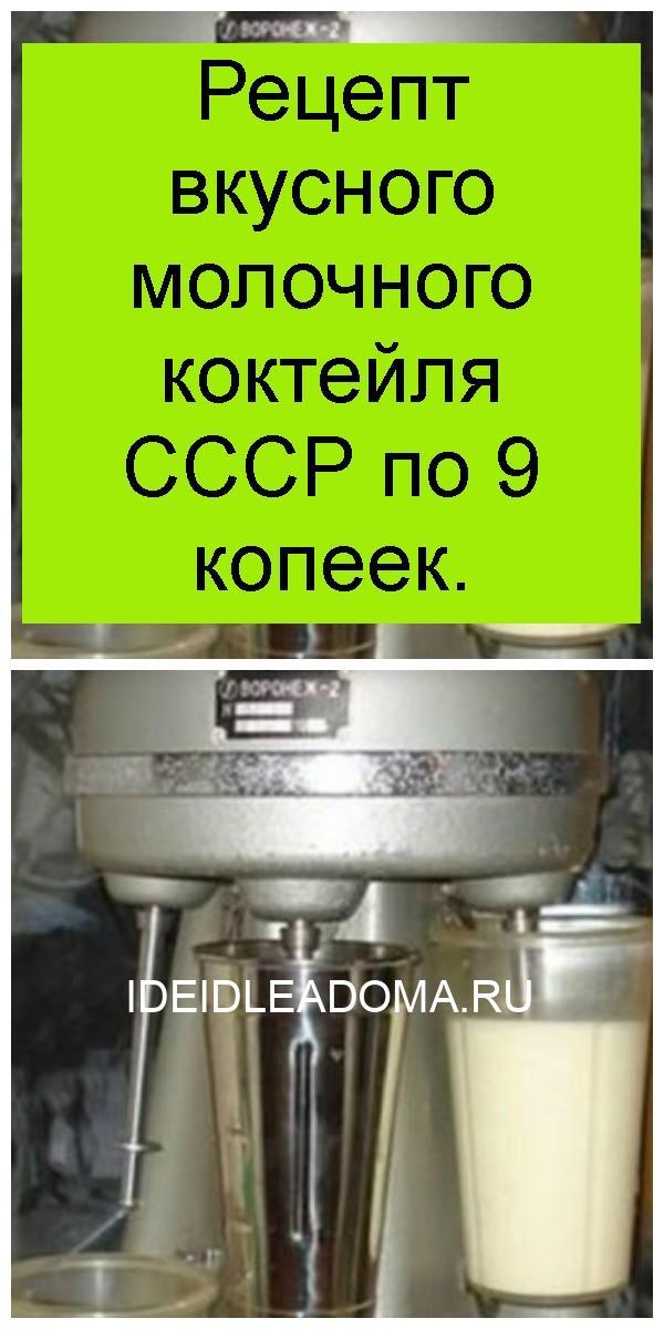 Рецепт вкусного молочного коктейля СССР по 9 копеек 4