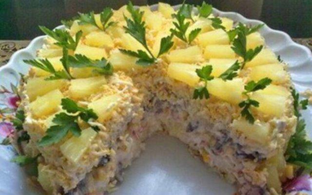 Бесподобный салатный торт «Чародейка» 1