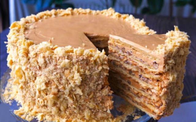 Для тех, кто любит Киевский торт: торт «Наполеон» по-новому 1