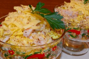 Изысканный легкий салат «Загадка Софии» без майонеза 1