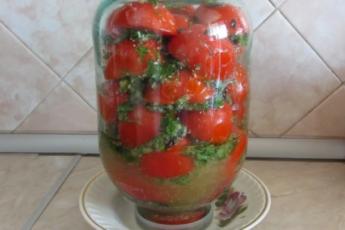 Маринованные половинки томатов в масле на зиму. От такой вкуснятины никто не отказывается 1