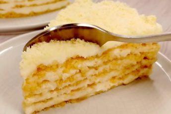 Торт без выпечки «Пломбир». Самый модный торт из крошки 1