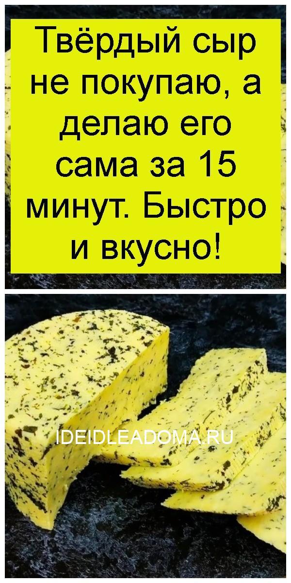 Твёрдый сыр не покупаю, а делаю его сама за 15 минут. Быстро и вкусно 4