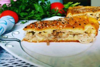 Необыкновенно вкусный пирог с грибами 1