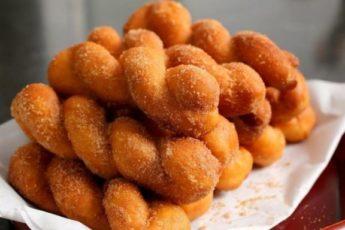 Рецепт обалденных и потрясающих крученных пончиков по-корейски 1