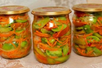 Рецепт вкусного салата по-корейски из зеленых помидоров 1
