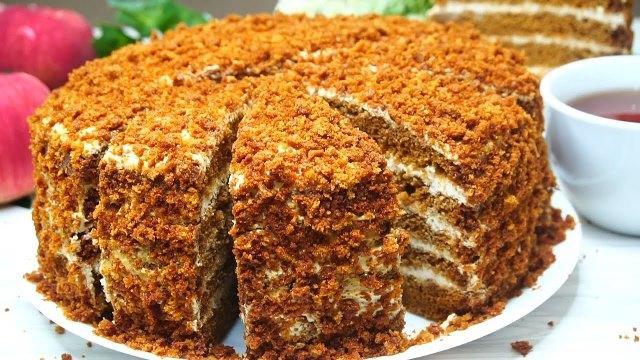 Ленивый рецепт торта «Медовый пух» без раскатки коржей 1