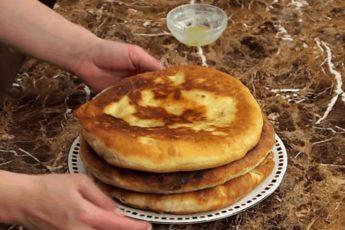 Рецепт аппетитной лепешки с картофельной начинкой